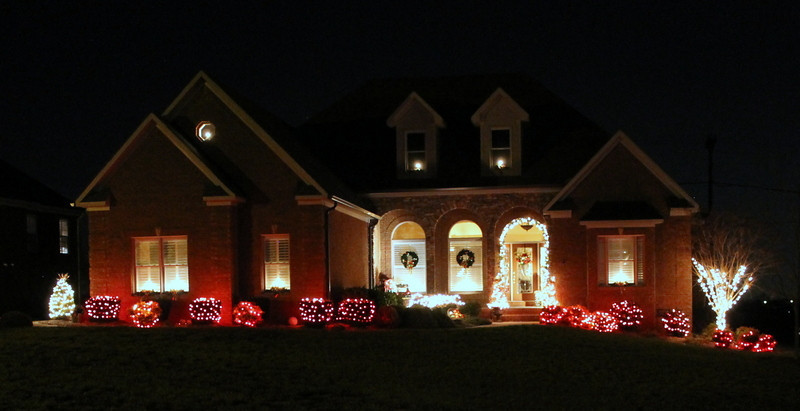 1. Take a look at some of our Christmas decor for 2012, inside and out.