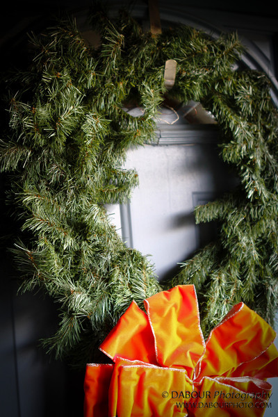 Even though this wreath has seen many Christmas's, it still looks good when put on the front door