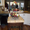 Lori has this cool butcher-block, island  in her kitchen. It's new for this year.
