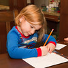 Writing a letter with a picture for Santa