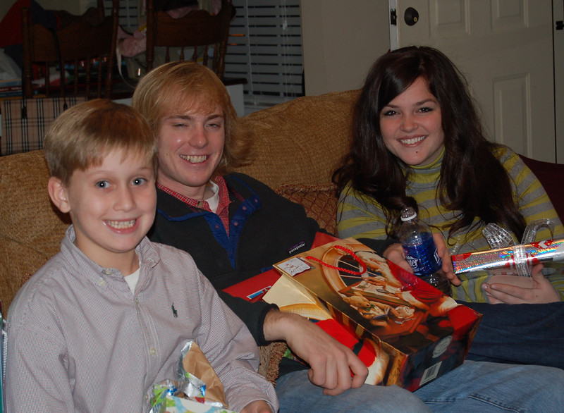Andy, Lauren and Preston Christmas Eve