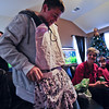 Klint got a lady's undergarment set. Oooo la-la. Very fru fru !!!!!!!!!!!!!!