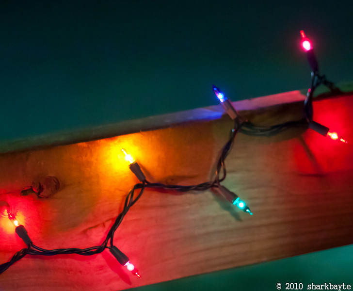 Banned to staying indoors until my chair is repaired. I caught a glimpse of some lights. Day 349 (2010.12.15) @sharkbayte