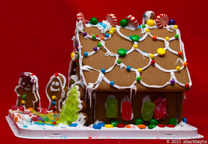 Made this the other day. My first attempt at a gingerbread house ever!