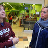 Judy Jollimore and Beth LeBlanc of Ashby talk about shopping on Monday at the Mall at Whitney Field in Leominster. SENTINEL & ENTERPRISE/JOHN LOVE