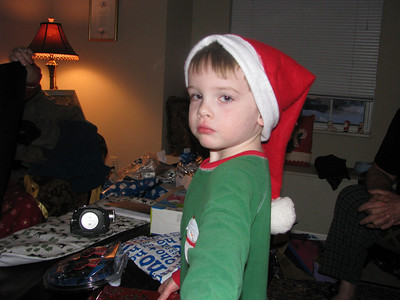 Alex playing Santa
