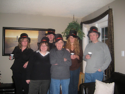 A few of the silly hat people