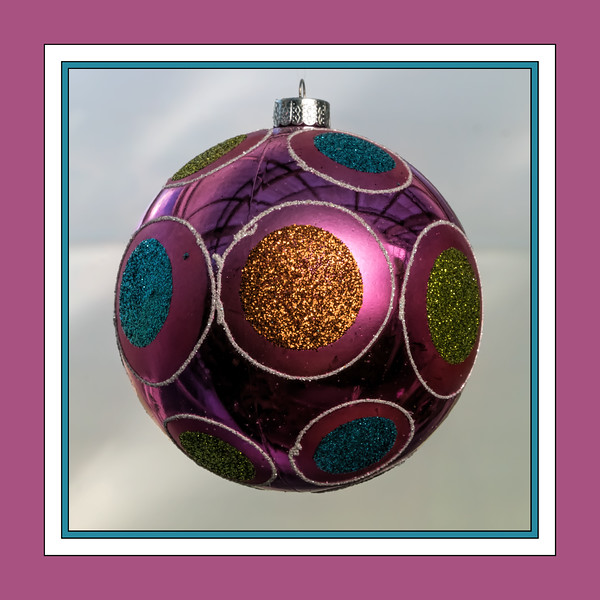 Over-sized ball Christmas ornament