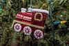 Tree ornament:  locomotive on the Lifesaver tree