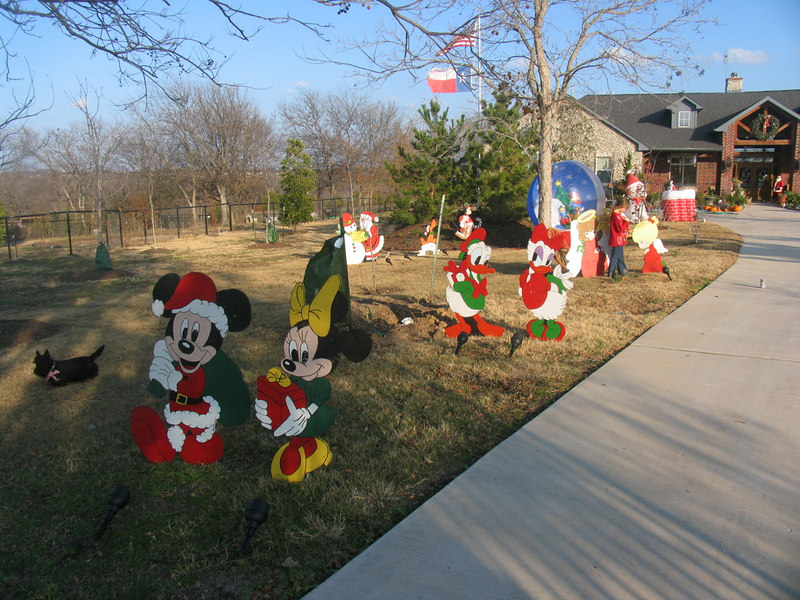 we started out our huge collection of christmas yard art