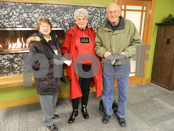 left to right: Addie Hotz, Don Seltz, and Becky Seltz