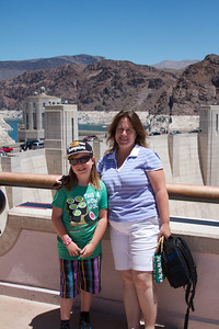 Deb and Allie at Hoover Dam