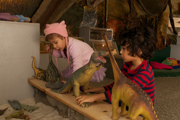 Dino dig at the London Children's Museum
