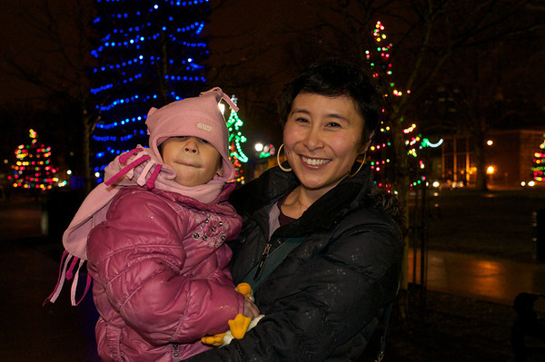 Me, C and Christmas lights