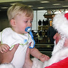 Alex meets Santa in the Houston airport