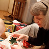 We opened presents on Christmas Morning with Katie's Grandma Jennifer and Uncle Spencer.