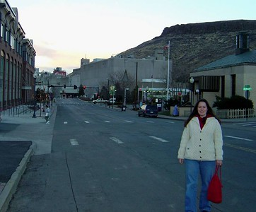 Lisa in Golden-Coors factory in back