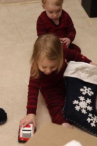 Christmas morning.  The stockings.