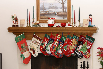 The stockings hung by the chimney with care.