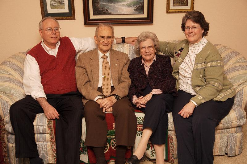 Great Grandma and Great Grandpa Williamson with Duke and  Mary