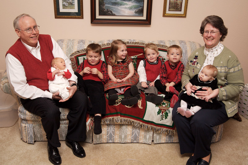 Grandma and Grandpa with their grandkids