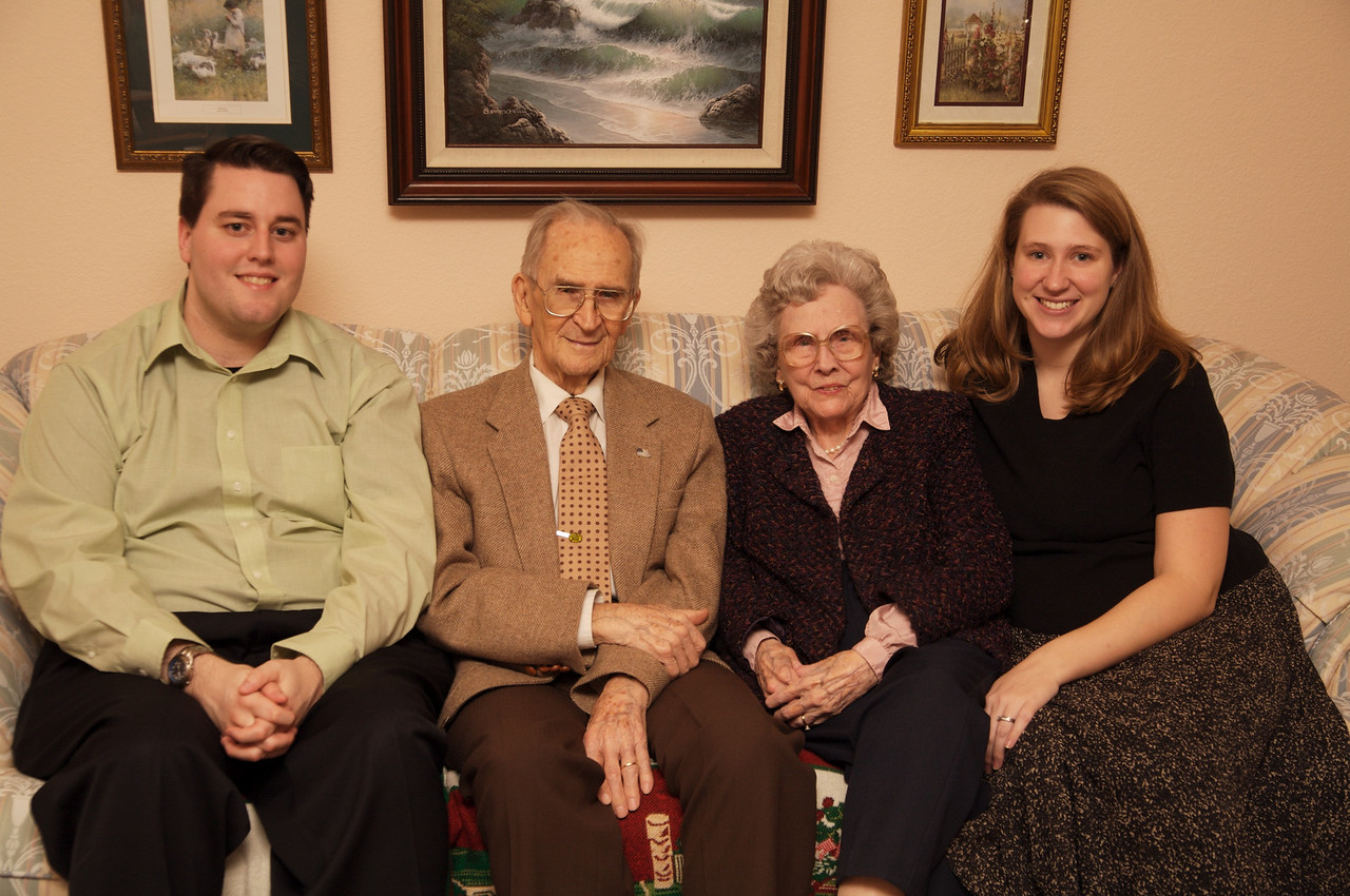 Great Grandma and Great Grandpa Williamson with Doug and Lisa