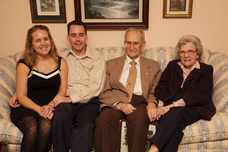 Great Grandma and Great Grandpa Williamson with David and Leah