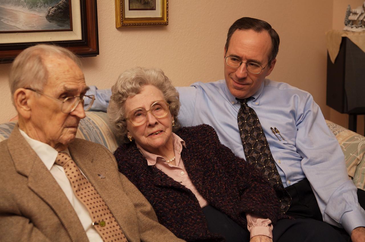 Great Grandma and Great Grandpa Williamson with  son, John
