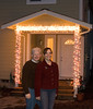 2006 Christmas portrait with our first Christmas light display.