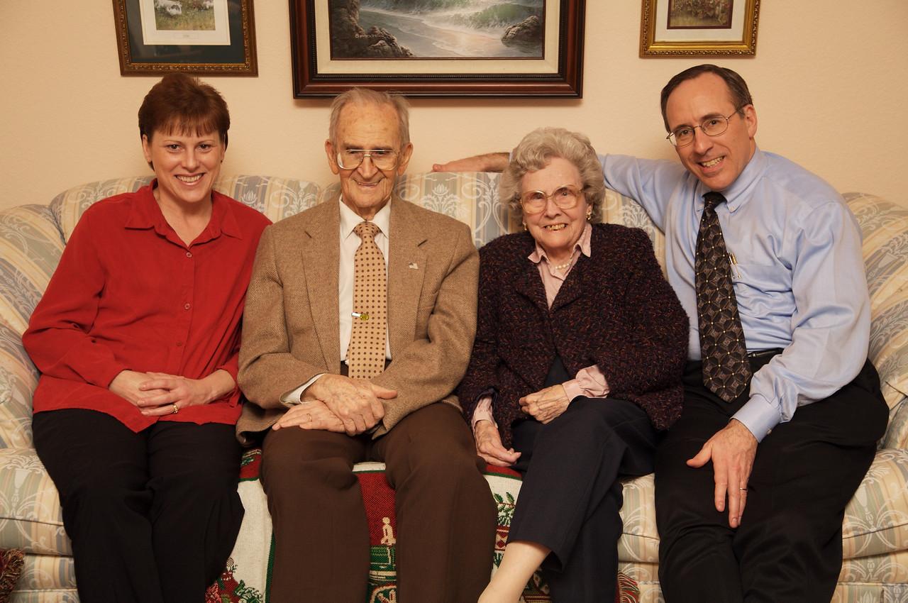 Great Grandma and Great Grandpa Williamson with John and Alicia
