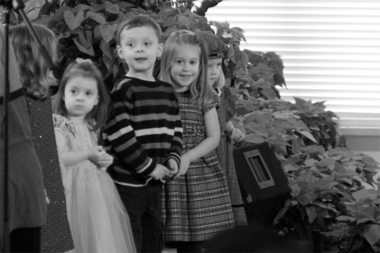 Singing in the church Children's choir.