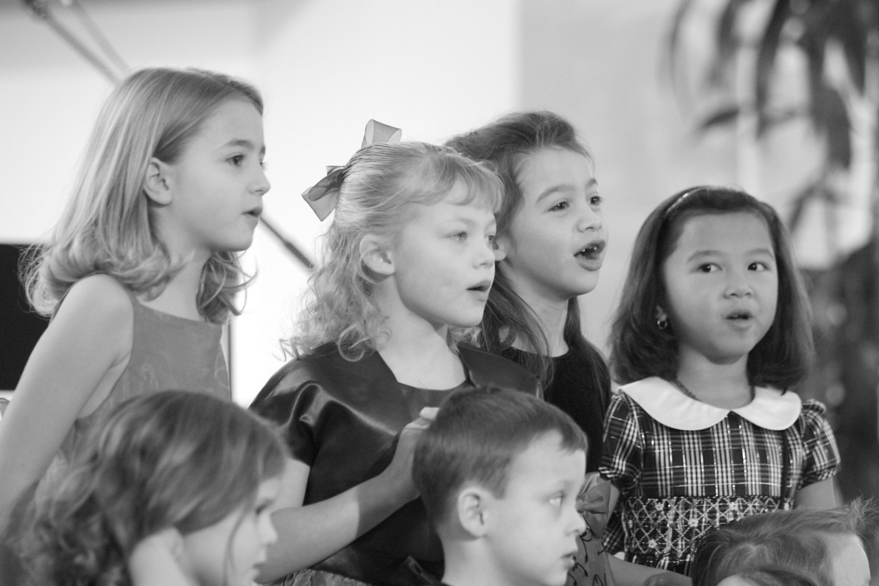 Singing in the church Children's choir.