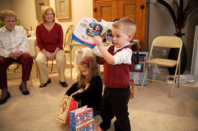 Opening presents at Nisey's.