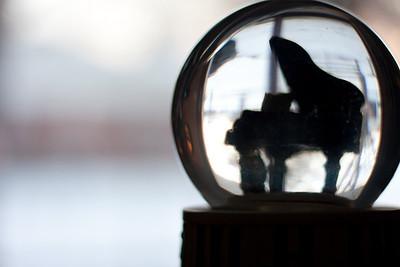 Piano in a globe