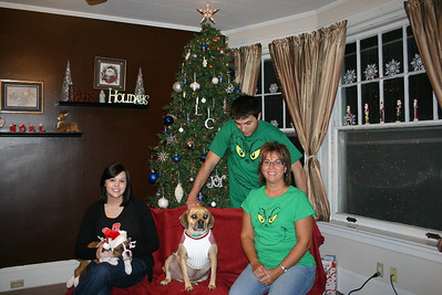 Merry Christmas from Erin, Boone, Louie, Cory and Lori ( 2010 )