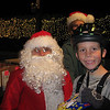 Kyle and Santa at Boy Scouts Winter park skating event