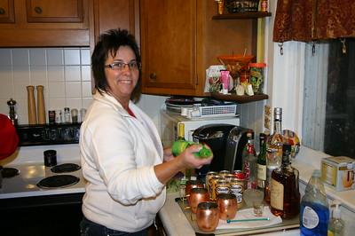 Lori making Moscow Mules ( 2014 )