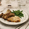 Tuscan-style Garlic-rosemary Roast Pork Loin and garlic green beans