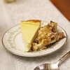 Ricotta cheesecake and bread pudding