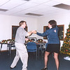 Lori and Barrie Barlow dancing at the Lee Insurance Christmas party. ( 2001 )