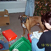 Justice helping out Lori with the decorations