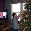 Alex decorating the tree