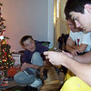 Alex, Todd, Cory and Justice Christmas morning