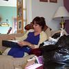 Lori opening her new sweater