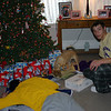 Cory, Alex and Louie on Christmas morning.