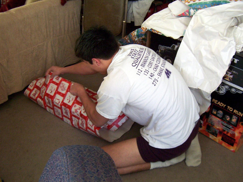Cory wrapping presents