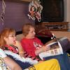 Cory, Cassie and Grandma Kay having christmas