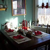 The tables ready for christmas