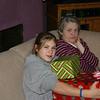 Cassie with Grandma Kay on Christmas Eve.