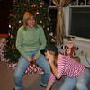 Kim shows Cassie her Christmas Balls.